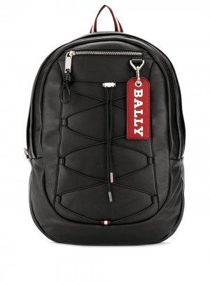 Овальный рюкзак Bally. Цвет: черный