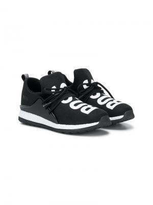 Спортивные кроссовеки с логотипом BOSS. Цвет: черный