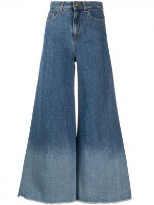 Расклешенные джинсы широкого кроя Alysi. Цвет: синий
