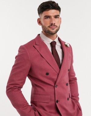 Двубортный пиджак узкого кроя -Красный Gianni Feraud