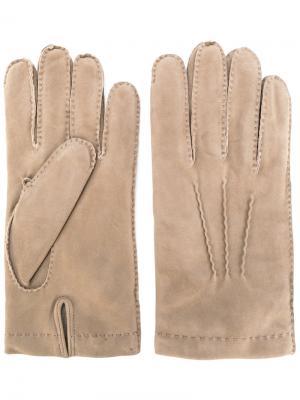 Повседневные перчатки Eleventy. Цвет: телесный
