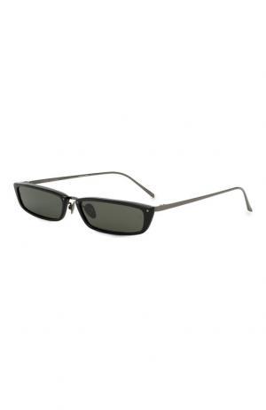 Солнцезащитные очки Linda Farrow. Цвет: чёрный