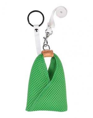 Брелок для ключей MM6 MAISON MARGIELA. Цвет: зеленый