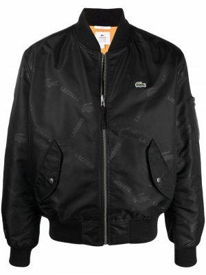 Двусторонняя куртка-бомбер с логотипом Lacoste Live. Цвет: черный