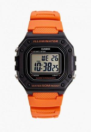 Часы Casio Collection W-218H-4B2. Цвет: красный