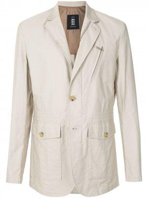 Фактурный пиджак с карманами Kent & Curwen. Цвет: белый