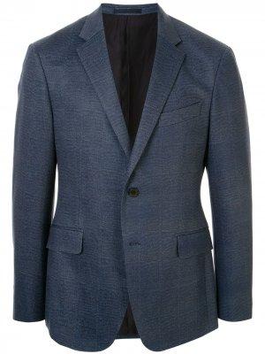 Твиловый пиджак в клетку Kent & Curwen. Цвет: синий