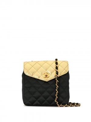 Стеганая сумка на плечо 1985-1993-х годов Chanel Pre-Owned. Цвет: золотистый