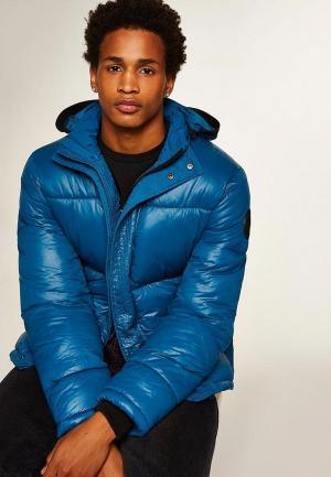 Куртка утепленная Topman. Цвет: синий