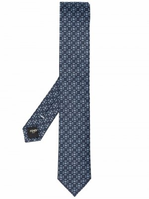 Monogram pattern tie Fendi. Цвет: синий