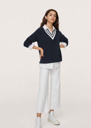 Пуловер из хлопка - Sorrento Mango. Цвет: глубокий темно-синий