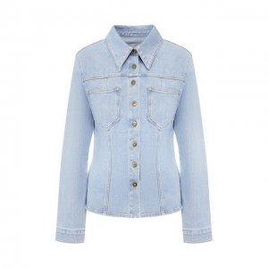 Джинсовая куртка Nanushka. Цвет: синий