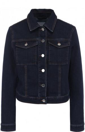 Джинсовая куртка прямого кроя с отложным воротником BOSS. Цвет: темно-синий
