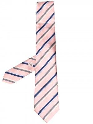 Галстук в диагональную полоску Giorgio Armani. Цвет: розовый