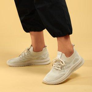 Спортивные сандалии на шнурках SHEIN. Цвет: бежевые