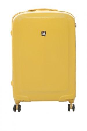 Чемодан Vip Collection. Цвет: желтый