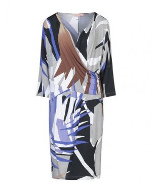 Платье до колена COCCAPANI TREND. Цвет: серый