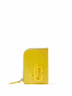 Leather chain-detail cardholder Jimmy Choo. Цвет: желтый