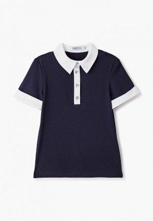Блуза Smena. Цвет: синий
