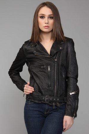 Куртка кожаная R13. Цвет: черный