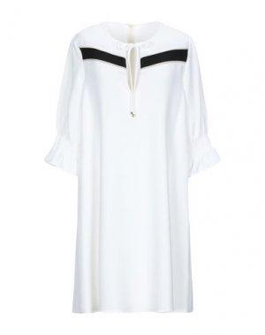Короткое платье ANNARITA N TWENTY 4H. Цвет: белый