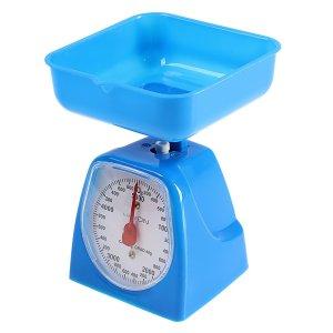 Весы кухонные luazon lvkm-501, механические, до 5 кг, чаша 1200 мл, синие Home