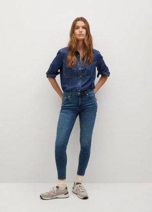 Укороченные джинсы скинни Isa - Mango. Цвет: насыщенный темно-синий