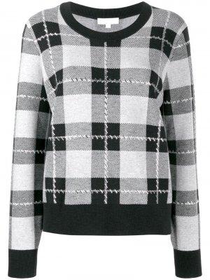 Пуловер в клетку Michael Kors. Цвет: черный