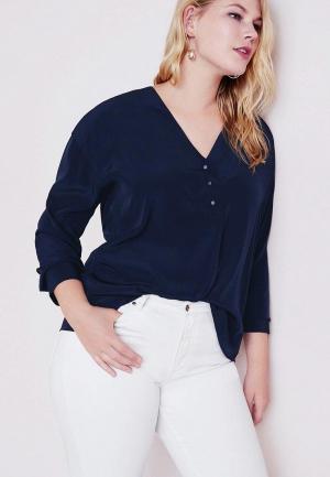 Блуза Violeta by Mango - PUNYI. Цвет: синий