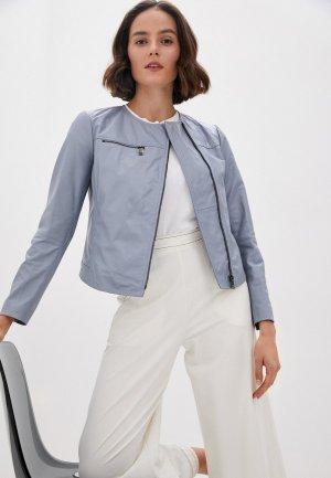 Куртка кожаная Max&Co NOTO. Цвет: голубой