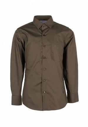 Рубашка Stenser. Цвет: коричневый
