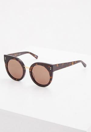 Очки солнцезащитные Stella McCartney SC0036S002. Цвет: коричневый