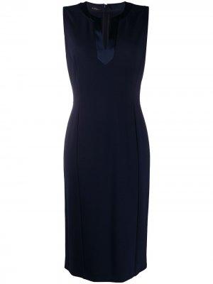 Платье миди без рукавов Les Copains. Цвет: синий