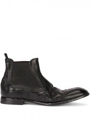 Ботинки с брогированием Dolce & Gabbana. Цвет: черный