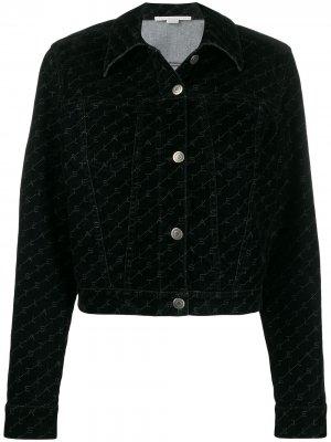 Джинсовая куртка с принтом Monogram Stella McCartney. Цвет: черный