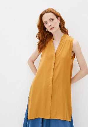 Блуза Модный дом Виктории Тишиной. Цвет: оранжевый