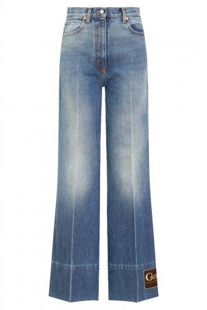 Синие расклешенные джинсы Gucci. Цвет: синий