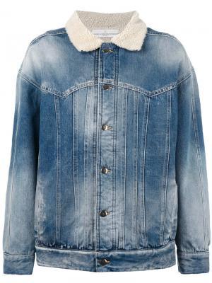 Shearling denim jacket Golden Goose Deluxe Brand. Цвет: синий