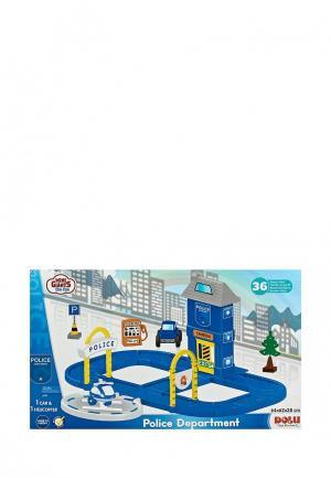 Набор игровой Dolu Полицейская станция с круговой дорогой. Цвет: разноцветный