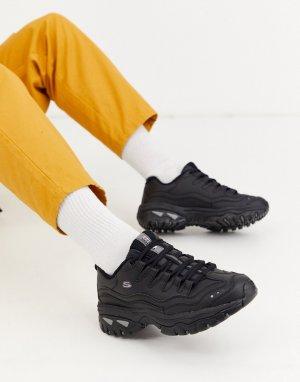 Черные кроссовки на массивной подошве Energy-Черный Skechers