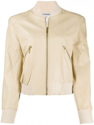Куртка-бомбер Chanel Pre-Owned. Цвет: нейтральные цвета