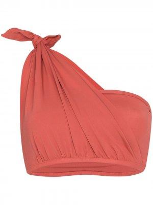Лиф-бандо на одно плечо с узлом Beth Richards. Цвет: розовый