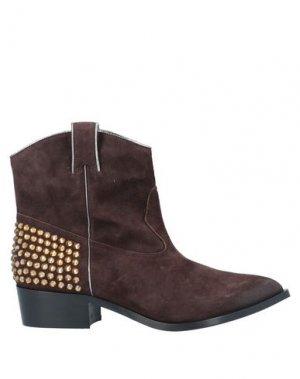 Полусапоги и высокие ботинки GUIDO SGARIGLIA. Цвет: темно-коричневый