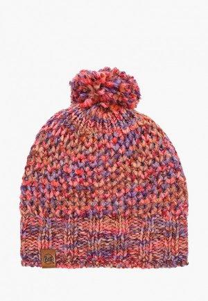 Шапка Buff Knitted&Polar Hat Margo. Цвет: бордовый