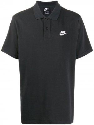 Рубашка поло свободного кроя Nike. Цвет: черный