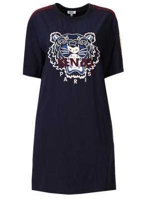 Платье-футболка с вышивкой KENZO