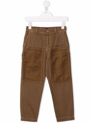 Parent gabardine jeans Diesel Kids. Цвет: коричневый