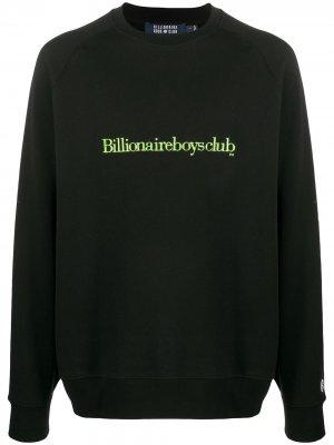 Толстовка с круглым вырезом и вышитым логотипом Billionaire. Цвет: черный