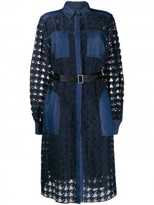Джинсовое платье Burn Out Karl Lagerfeld. Цвет: синий