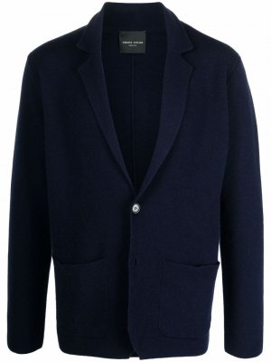 Однобортный пиджак Roberto Collina. Цвет: синий